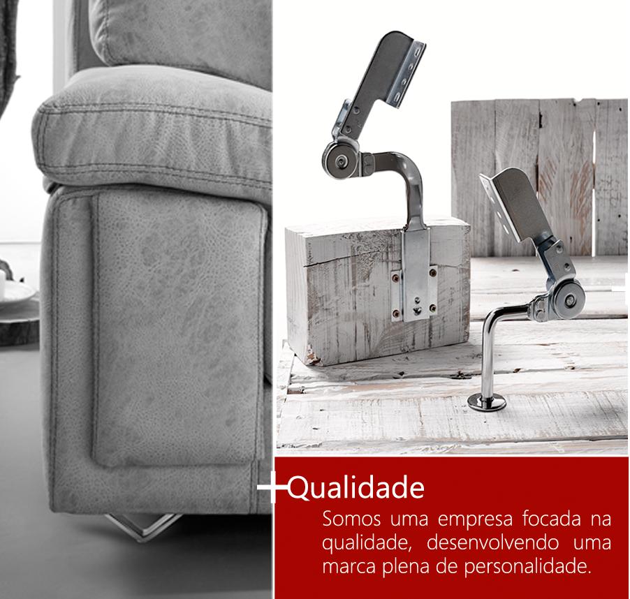 Qualidade. Somos uma empresa focada na qualidade, desenvolvendo uma marca plena de personalidade.