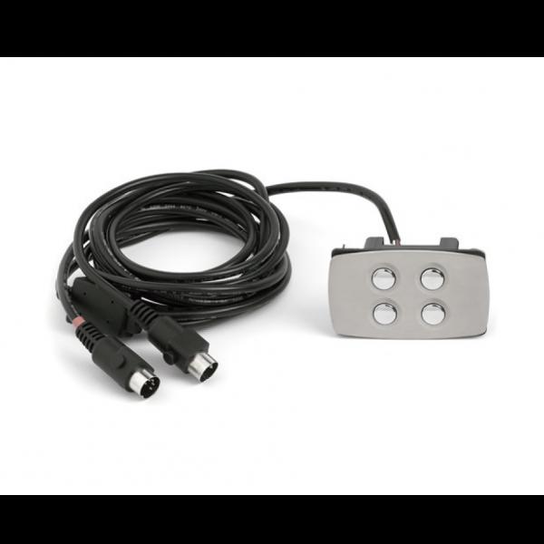 Comando 4 botões, retangular metálico - Suministros Lomar