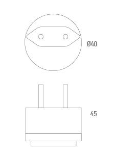 Conector adaptador EU - Técnico