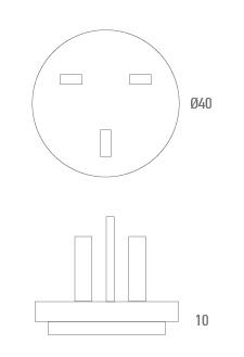 Conector de adaptador UK - Técnico