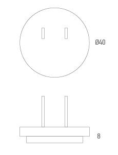 Conector adaptador USA - Técnico
