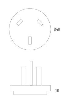 Adaptateur connecteur AUS - Technicien