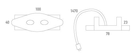 Botonera metálica diamante - Técnico