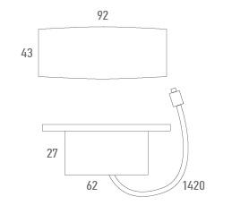 Botonera empotrada rectangular inteligente con sensor de movimiento - Técnico