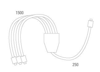 Cable adaptador 3 motores  -Técnico