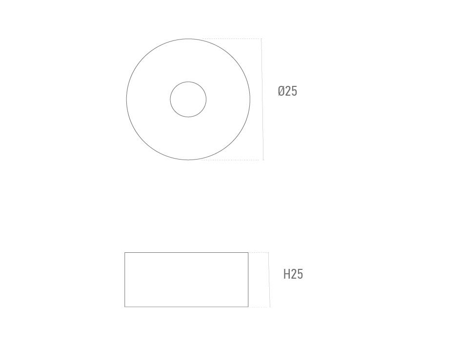 Mod. Redonda 25mm - Suministros Lomar
