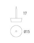 Slider pequeno 15 mm marrom - Técnico