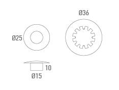 Valve d'aérateur avec rondelle - Technicien