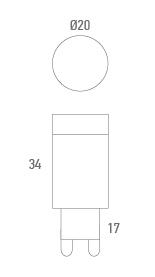 Bombilla lámpara con enchufe - Técnico