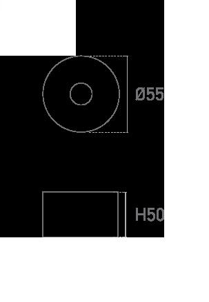 Mod. Redonda 50mm - Plano técnico - Suministros Lomar