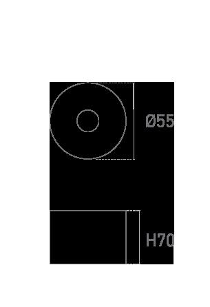 Mod. Tondo 70mm - Piano tecnico - Suministros Lomar