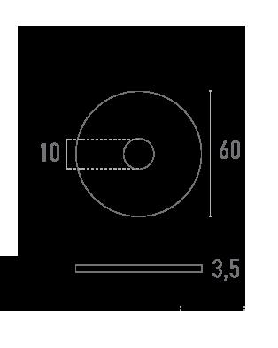 ARANDELA 60 mm - Plano técnico - Suministros Lomar