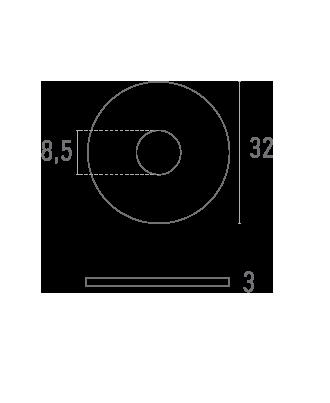 ARANDELA 32 mm - Plano técnico - Suministros Lomar