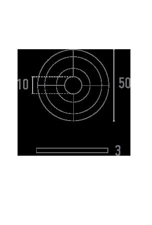 Rondelle relief - Plan technique - Suministros Lomar