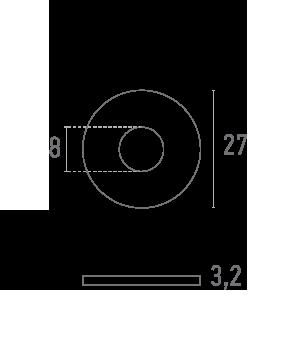 ARANDELA 27 mm - Plano técnico - Suministros Lomar