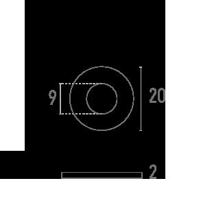 ARANDELA 20 mm - Plano técnico - Suministros Lomar