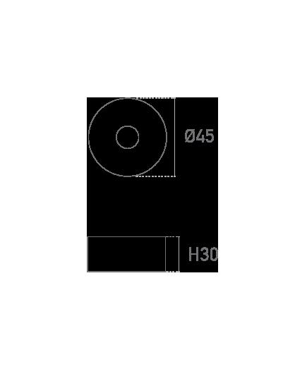 Mod. Redonda MT 30mm- Plano técnico - Suministros Lomar