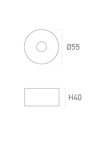 Pata Redonda MT 40mm - Plano técnico - Suministros Lomar