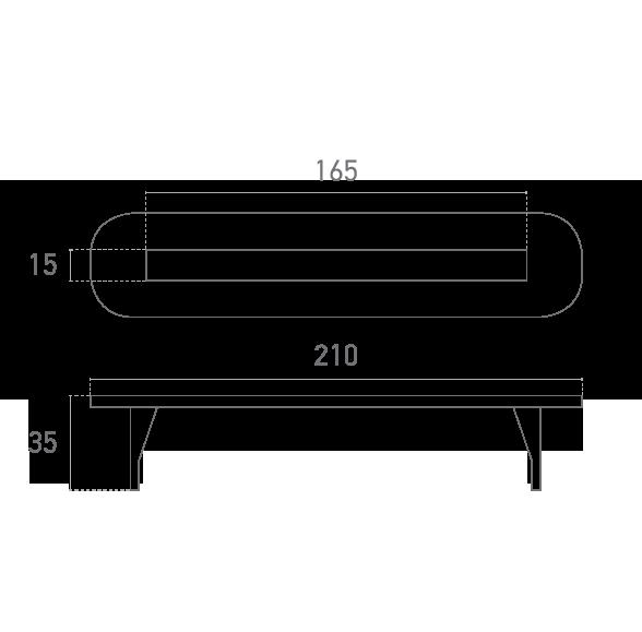 Kopfende Zierkappe zum stecken - Technische Ebene - Suministros Lomar