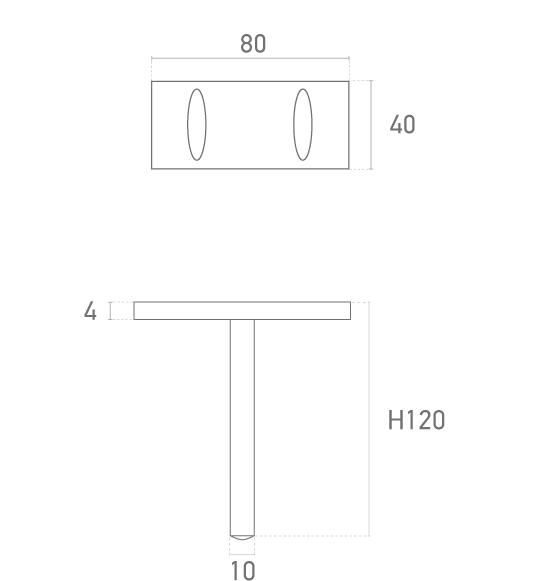 Mod. SKY (40xH120) Pequeña - Plano técnico - Suministros Lomar