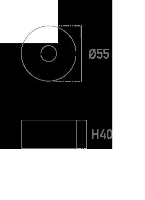 Mod. Redonda 40mm - Plano técnico - Suministros Lomar