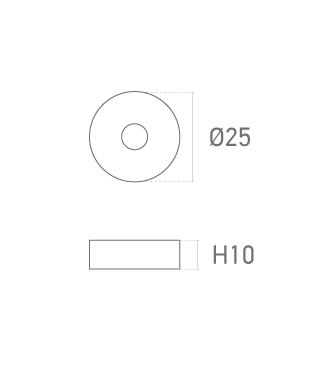 Mod. Redonda 10mm - Plano técnico - Suministros Lomar