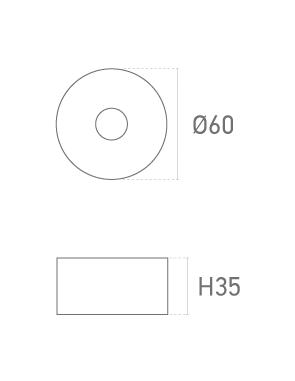 MOD. REDONDA MT 35mm - Plano técnico - Suministros Lomar