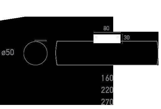 Mod. Tubo Cromo 2 - Plano técnico - Suministros Lomar