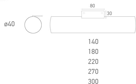 Mod. Tubo Cromo Ø40- Plano técnico - Suministros Lomar
