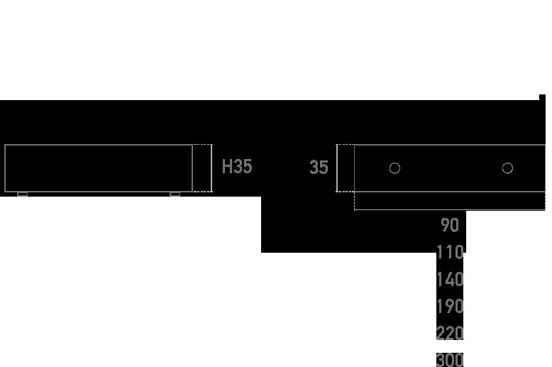 Mod. Tubo Cuadrado - Plano técnico - Suministros Lomar