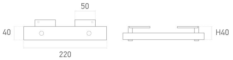 Mod. tubo ovalado alta cromo - Plano técnico - Suministros Lomar