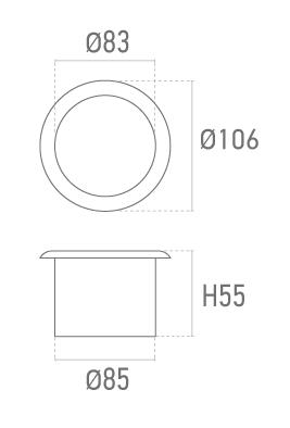 Dessous de verre métallique inox. - Plan technique - Suministros Lomar