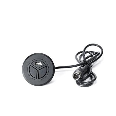 Botonera empotrada redonda + USB